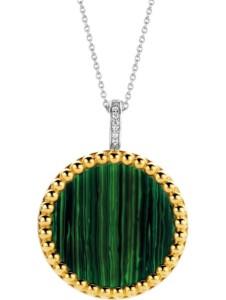 Ti Sento – Milano Damen-Kette 925er Silber Farbstein Ti Sento Milano bicolor/grün