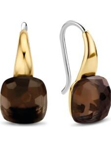 Ti Sento – Milano Damen-Ohrhänger 925er Silber Kristall Ti Sento Milano gold/braun