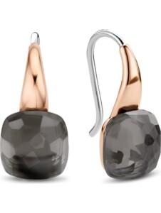 Ti Sento – Milano Damen-Ohrhänger 925er Silber Kristall Ti Sento Milano roségold/grau