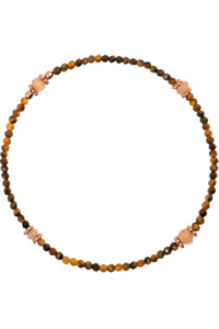 TIGER EYE Armband rosé vergoldet