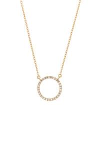 TINY CIRCLE Halskette 14K Gelbgold