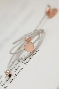 TINY HEART Armband rosé vergoldet