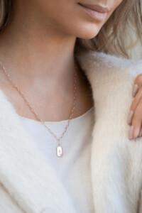 Topas Halskette rosé vergoldet