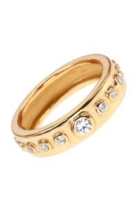 Topas Ring vergoldet