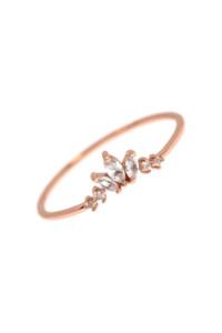 TOPAZ CROWN Ring rosé vergoldet