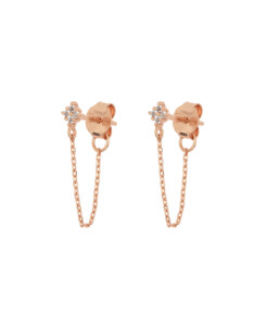 TOPAZ GLIMMER|Ear Jackets Rosé