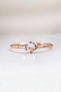 TOPAZ SPARK Ring rosé vergoldet