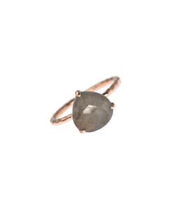 TRIANGLE GRANDE|Ring Labradorit