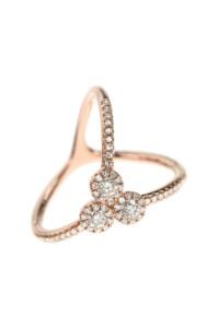 TRIPLE DIAMOND Ring Roségold