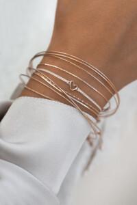 TRUE LOVE Armband rosé vergoldet