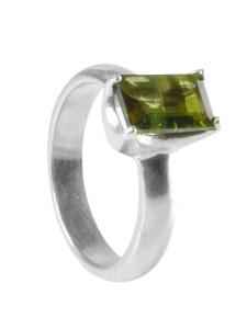 Turmalin grün Schmuck Edelstein Ring 925 Silber 1001 Diamonds grün