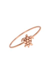 TURTLE Ring Rosé vergoldet