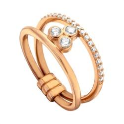 Twin Ring Play 925er Silber rosévergoldet