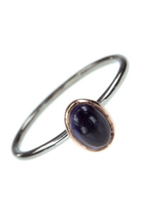 TWO TONE Iolith Stacking Ring