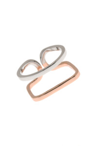 TWO TONE Ring Sterling Silber