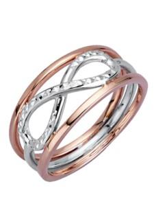 Unendlichkeit-Ring in Roségold Diemer Gold Roségoldfarben