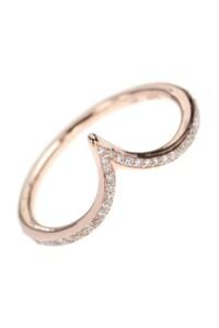 V Roségold Ring Diamanten
