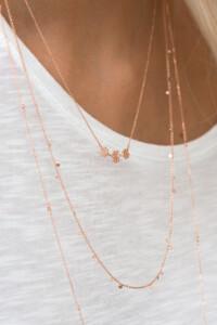 VERGISSMEINNICHT Halskette rosé vergoldet