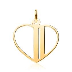 Vergoldeter 925er Silber Anhänger Herz, gravierbar