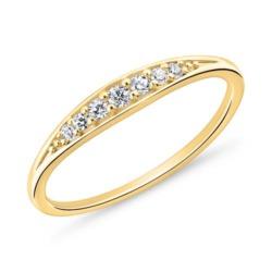 Vergoldeter 925er Silberring für Damen mit Zirkonia