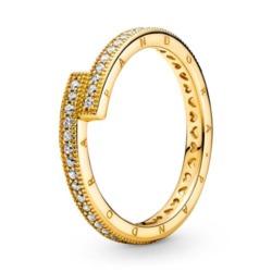 Vergoldeter Ring für Damen mit Zirkonia