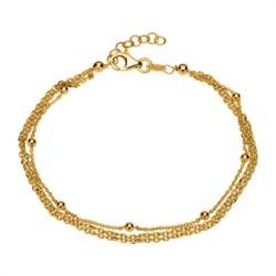 Vergoldetes 925er Silberarmband mit Kugelelementen