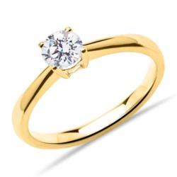 Verlobungsring aus 14K Gold mit Diamant, 0,50 ct.