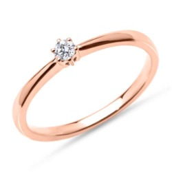 Verlobungsring aus 14K Roségold mit Brillant, lab-grown