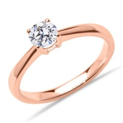 Verlobungsring aus 18K Roségold mit Brillant, lab-grown