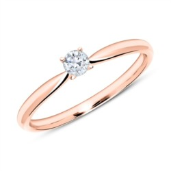 Verlobungsring aus 585er Roségold mit Diamant 0,15 ct.