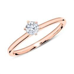Verlobungsring aus 585er Roségold mit Diamant 0,25 ct.