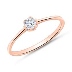 Verlobungsring aus 585er Roségold mit Diamant