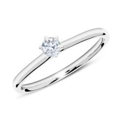 Verlobungsring aus 585er Weißgold mit Diamant 0,15 ct.