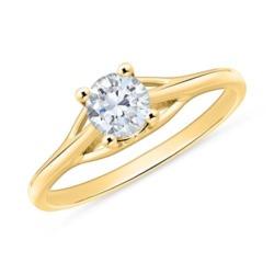 Verlobungsring aus 750er Gold mit Diamant