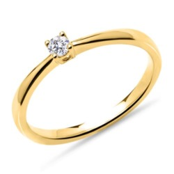 Verlobungsring aus 750er Gold mit Diamant, lab-grown