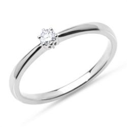 Verlobungsring aus 750er Weißgold mit Diamant 0,10 ct.