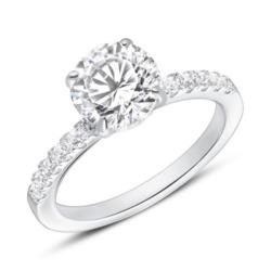 Verlobungsring aus 925er Silber Zirkonia, gravierbar