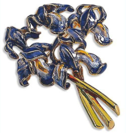 Vincent van Gogh: Brosche 'Iris', Brosche, Schmuck