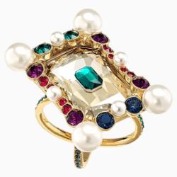 Vintage Opulescence Cocktail Ring, mehrfarbig, Vergoldet