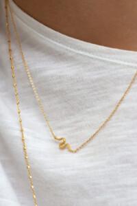 VIPER Halskette gelb vergoldet