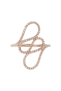 WAVE Diamant Ring Roségold