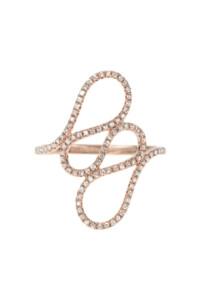 WAVE Diamant Ring Roségold