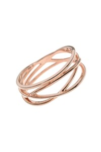 WAVES Ring rosé vergoldet