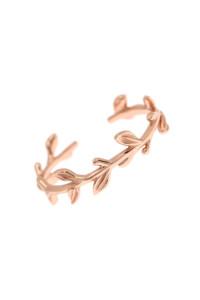 WILD LEAVES Ring rosé vergoldet