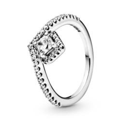 Wishbone Ring aus 925er Silber mit Zirkonia