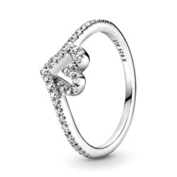 Wishbone Ring für Damen aus 925er Silber mit Zirkonia