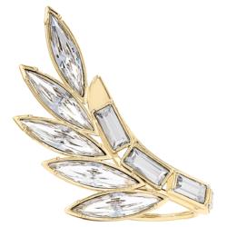 Wonder Woman Armour Ring, weiss, vergoldet