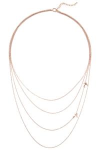 ZUGVOGEL Halskette rosé vergoldet
